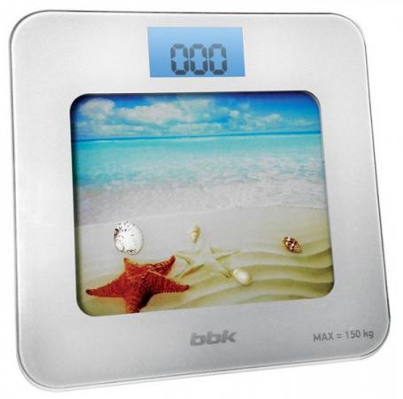 цена на Весы напольные BBK BCS7001 белый голубой