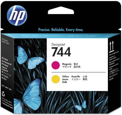 Печатающая головка HP 744 F9J87A для HP Designjet Z2600 Z5600 желтый пурпурный hp designjet t830 36 f9a30a