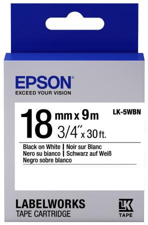 Лента Epson LK-5WBN для Epson LabelWorks LW-400 400VP 700 900P C53S655006 принтер epson labelworks lw 700 ленточный 180dpi 6мм 9мм 12мм 18мм 24мм c51ca63100