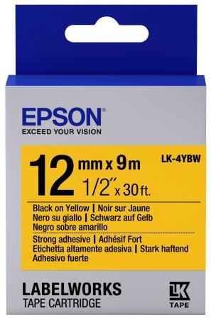 Лента Epson LK-4YBW для Epson LabelWorks C53S654014 принтер epson labelworks lw 700 ленточный 180dpi 6мм 9мм 12мм 18мм 24мм c51ca63100