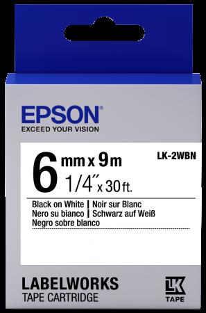 Лента Epson LK-2WBN для Epson LabelWorks C53S652003 принтер epson labelworks lw 700 ленточный 180dpi 6мм 9мм 12мм 18мм 24мм c51ca63100