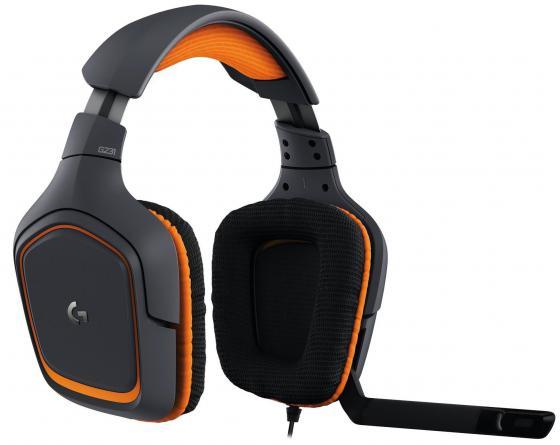Гарнитура Logitech Headset G231 черный 981-000627 гарнитура logitech g231 prodigy 981 000627