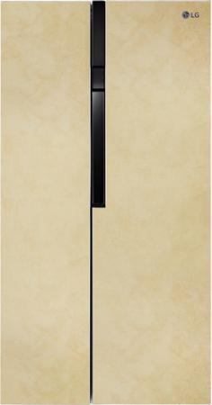 Холодильник LG GC-B247JEUV бежевый (двухкамерный) холодильник lg ga b409ueda двухкамерный бежевый