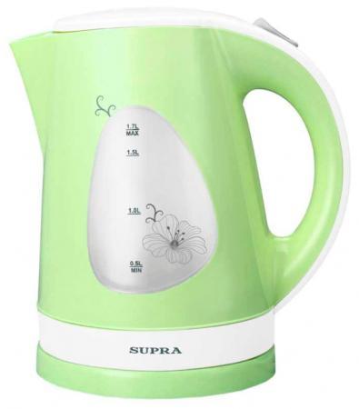 Чайник Supra KES-1708 2200 Вт фисташковый белый 1.7 л пластик supra kes 2301 grey
