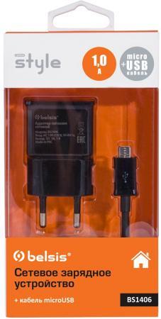 Сетевое зарядное устройство Bliss BS1406 1A microUSB черный