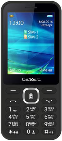 Мобильный телефон Texet TM-D327 черный 2.8 texet tm d327