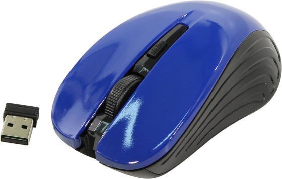 Мышь беспроводная Oklick 545MW чёрный синий USB мышь беспроводная oklick 545mw чёрный usb радиоканал
