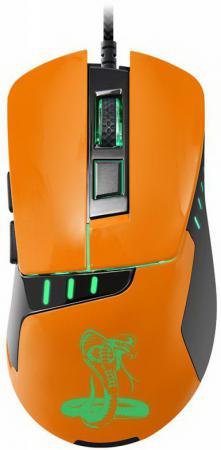 все цены на Мышь проводная Oklick 865G чёрный оранжевый USB онлайн
