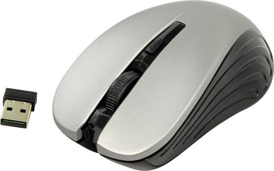 лучшая цена Мышь беспроводная Oklick 545MW чёрный серый USB + радиоканал