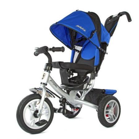 Велосипед трехколёсный Moby Kids Comfort-2 12*/10* синий 635204 велосипед moby kids comfort ultra 12 10 синий