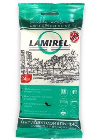 Влажные салфетки Fellowes Lamirel LA-61617(01) 24 шт влажные салфетки fellowes lamirel la 1144001 100 шт