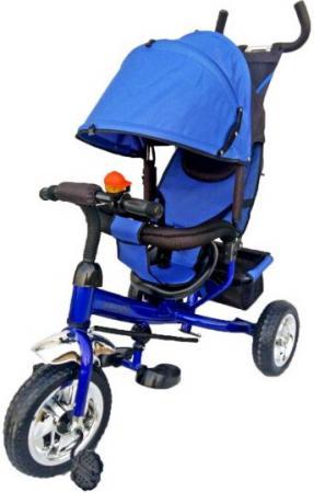 Велосипед трехколёсный Moby Kids Спутник 10/8 синий 635206 велосипед r toys galaxy лучик vivat 10 8 красный трехколёсный