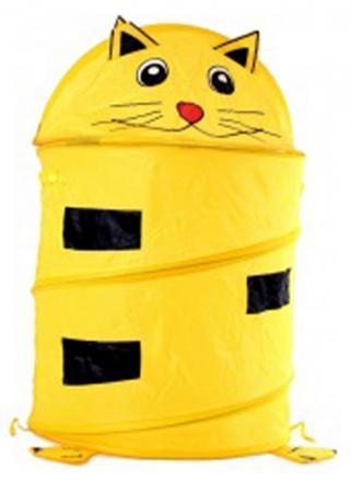 Корзина Shantou Gepai Котенок без колёс жёлтый текстиль  J-15 ящики для игрушек shantou gepai корзина зайка 36х48 см