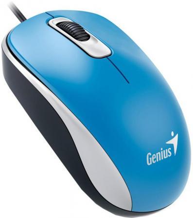 Мышь проводная Genius DX-160 голубой USB колонки genius мультимедийные колонки genius sw 2 1 370