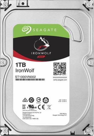 Жесткий диск 3.5 1 Tb 5900rpm 64Mb cache Seagate IronWolf ST1000VN002 SATA III 6 Gb/s kingfast ssd 128gb sata iii 6gb s 2 5 inch solid state drive 7mm internal ssd 128 cache hard disk for laptop disktop