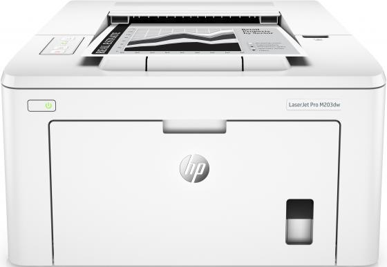купить Принтер HP LaserJet Pro M203dw G3Q47A ч/б A4 28ppm 1200x1200dpi 256Mb USB Ethernet Wi-Fi дешево