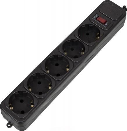 Сетевой фильтр PCPet AP01006-E-BK 5 розеток 1.8 м черный цена и фото