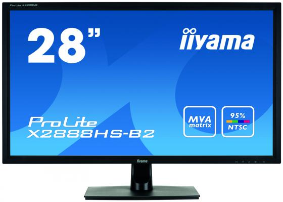 Монитор 28 iiYama X2888HS-B2 черный MVA 1920x1080 300 cd/m^2 5 ms DVI HDMI DisplayPort VGA Аудио монитор 22 iiyama pro lite t2236msc b2