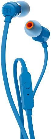 Наушники JBL T110 синий гарнитура jbl e55bt белый jble55btwht