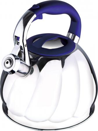 Чайник Wellberg WB-6224 серебристый синий 2.7 л нержавеющая сталь WB-6224 wellberg wb 6239 bionic