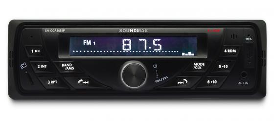 Автомагнитола Soundmax SM-CCR3058F USB MP3 FM SD MMC 1DIN 4x40Вт черный podofo car audio 7 2din autoradio stereo touch screen auto radio video mp5 player support bluetooth tf sd mmc usb fm aux camera
