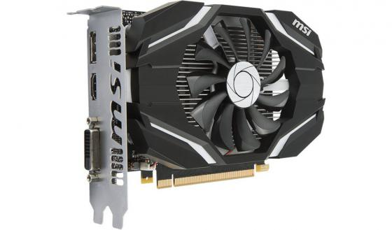 Видеокарта 2048Mb MSI GeForce GTX 1050 PCI-E 128bit GDDR5 DVI HDMI DP GTX 1050 2G OC Retail видеокарта 2048mb msi r7 250 2gd3 oc pci e dvi hdmi dp hdcp retail