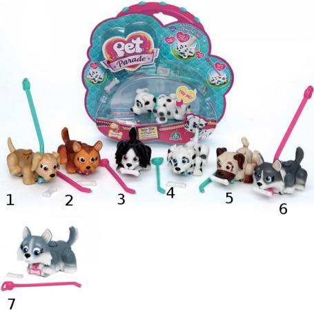Фигурки собачек Spin Master Pet Club Parade в комплекте с косточками и поводком 9 см в ассортименте PTD01111 pet club parade игрушка фигурки собачек колли и мопс
