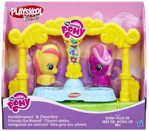 Игровой набор HASBRO My Little Pony карусель для пони-малышек 3 предмета игровой набор hasbro mlp пони модницы с артикуляцией в ассортименте my little pony