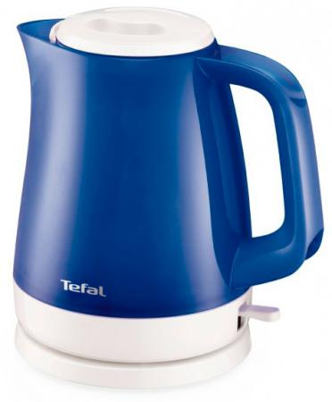 Чайник Tefal KO151430 2400 Вт синий 1.5 л пластик чайник tefal ko151430