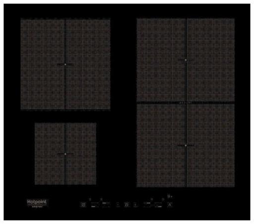 Варочная панель электрическая Ariston KIT 641 F B черный встраиваемая электрическая варочная панель smeg si 5633 b