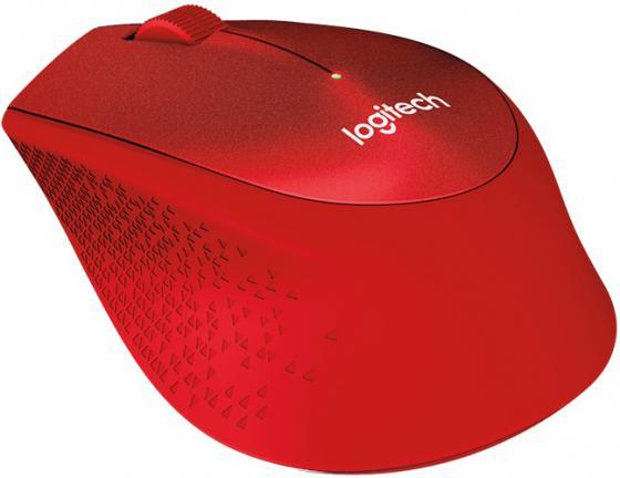 Мышь беспроводная Logitech M330 Silent Plus красный USB 910-004911 цена и фото