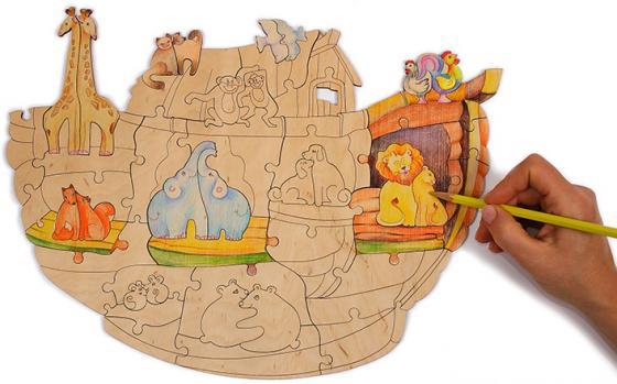 "Пазл WOODY ""Ноев ковчег"" 50 элементов О0716 konigspuzzle пазл ноев ковчег"