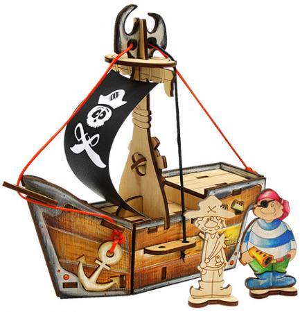 Деревянный конструктор WOODY Пиратский корабль Карамба 28 элементов О0761 egmont toys магнитная игра пиратский корабль egmont toys