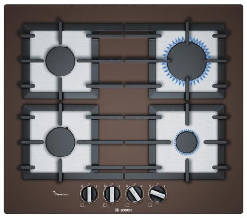 Варочная панель газовая Bosch PPP6A4B90R коричневый