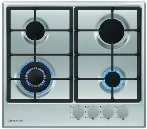 Варочная панель газовая Schaub Lorenz SLK GE6520 серебристый встраиваемый комплект schaub lorenz slb ee6620 slk ge6520
