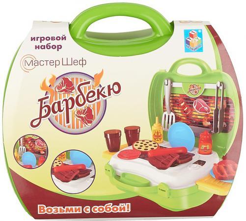 Игровой набор 1toy Мастер-Шеф - Барбекю 23 предмета Т59010 кухонный набор сима ленд шеф повар хрюша 3505364