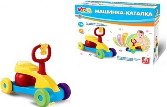 Каталка-мотоцикл S+S Toys BAMBINI со звуком пластик от 3 лет на колесах разноцветный СС76744 игрушка s s toys bambini музыкальное пианино котик сс76753