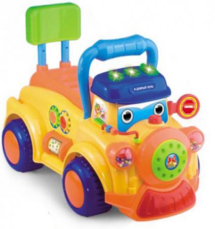 Каталка-машинка S+S Toys Bambini пластик от 6 месяцев музыкальная разноцветный автотрек s s toys bambini мой первый автопаркинг сс76745