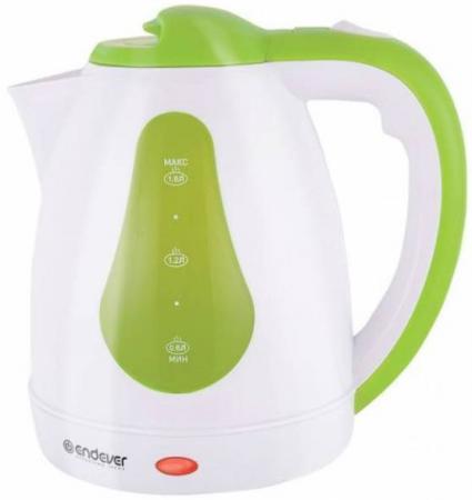 Чайник ENDEVER Skyline 350-KR 2100 Вт белый зелёный 1.8 л пластик чайник endever skyline 357 kr 1900 вт зелёный чёрный 1 л пластик href page 1
