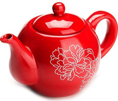 Чайник заварочный Loraine LR-25839 красный 0.95 л керамика чайник заварочный loraine lr 23768 0 7л белый с рисунком ромашки