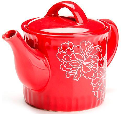 Чайник заварочный Loraine LR-25841 красный 0.73 л керамика чайник заварочный loraine lr 23768 0 7л белый с рисунком ромашки