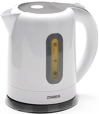 Чайник Zimber 10671-ZM 2200 Вт белый 1.7 л пластик