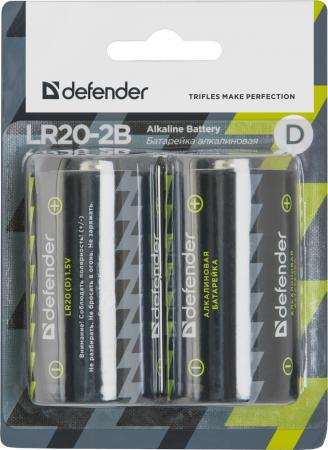 Батарейки Defender LR20-2B D 2 шт 56022 батарейки varta superlife d lr20 d 2 шт