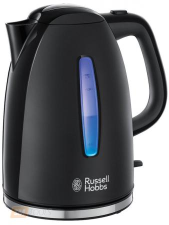 Чайник Russell Hobbs 22591-70 2400 Вт чёрный 1.7 л пластик чайник philips hd4646 20 2400 вт чёрный 1 5 л пластик