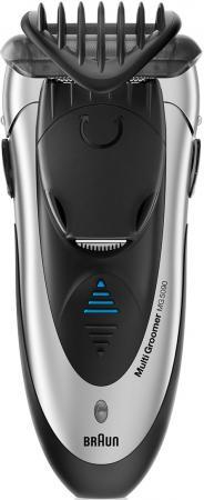 Бритва Braun MG5090 чёрный серебристый бритва braun mobileshave m90 серебристый чёрный