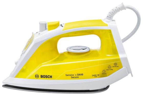 лучшая цена Утюг Bosch TDA1024140 2400Вт жёлтый белый