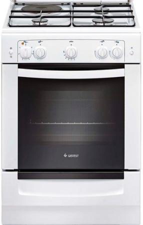 Комбинированная плита Gefest 6110-01 0001 белый комбинированная плита gefest 6110 02 0001 6110 02 к