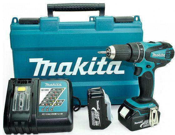 Аккумуляторная дрель-шуруповерт Makita DHP456RFE аккумуляторная дрель makita dhp459rfe