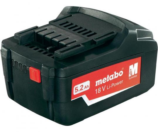 Аккумулятор Metabo 18 В 5.2 Ач LI-Power Extreme 625592000 аккумулятор gigawatt g72r 572 409 068 72 ач