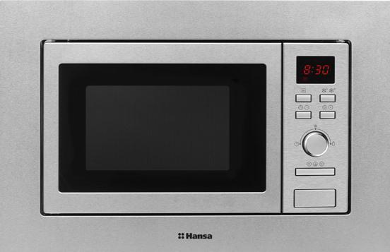 Встраиваемая микроволновая печь Hansa AMM20BEXH 800 Вт серебристый микроволновая печь hansa amg 20 bfh
